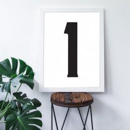 1 Sayısı - Beyaz zemin - Poster