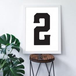 2 Sayısı - Beyaz zemin - Poster