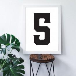 5 Sayısı - Beyaz zemin - Poster