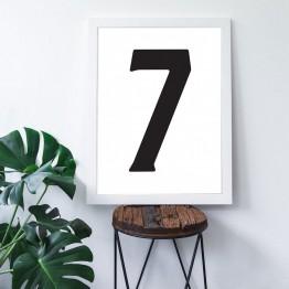 7 Sayısı - Beyaz zemin - Poster