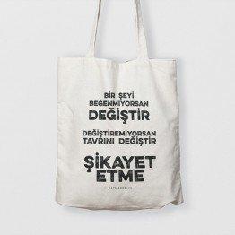 Bir şeyi beğenmiyorsan değiştir - çanta