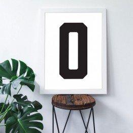 0 Sayısı - Beyaz zemin - Poster