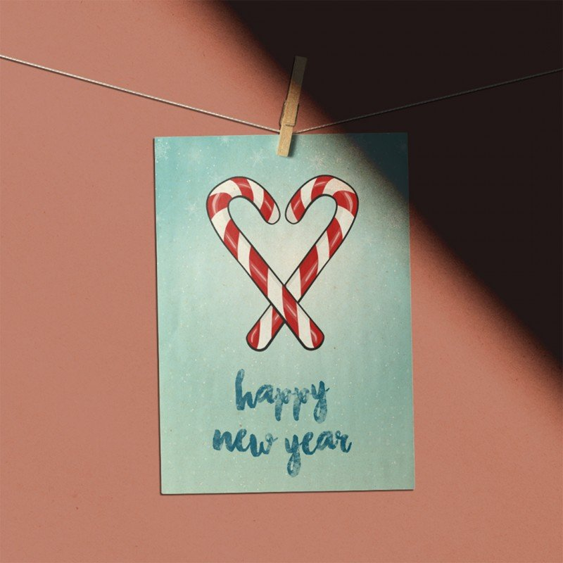 Happy new year - şeker bastonu