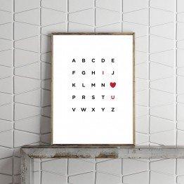 I Love you - Tipografi
