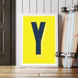 Y Harfi - Sarı zemin - Poster
