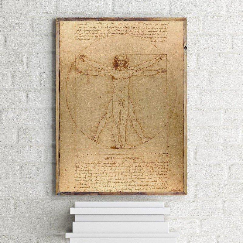 Leonardo da Vinci'nin Vitruvius Adamı - poster