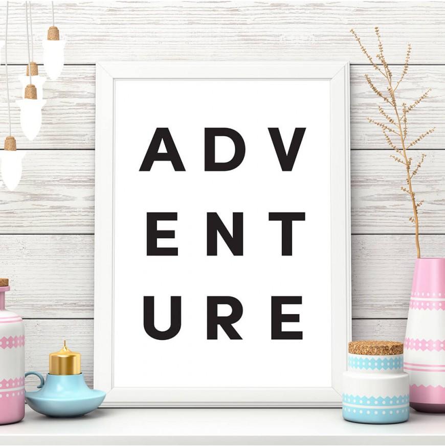 Adventure - beyaz - Poster