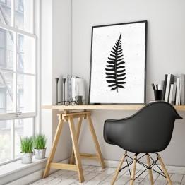 Aşk merdiveni- eğrelti yaprağı- bw- poster
