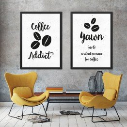 Kahve Bağımlısı - bw -  İkili Poster