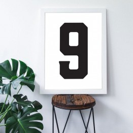 9 Sayısı - Beyaz zemin - Poster