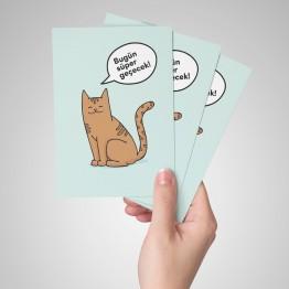 Pozitif kedi - Kartpostal