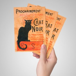 Le chat noir - Kartpostal