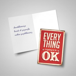 Everything is ok - Tebrik kartı