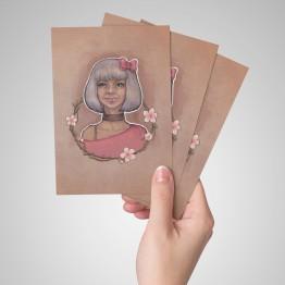 Gümüş kız - kartpostal