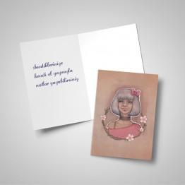 Gümüş kız - Tebrik kartı
