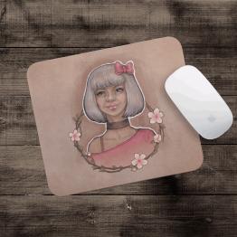 Gümüş kız - Mouse pad