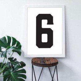 6 Sayısı - Beyaz zemin - Poster